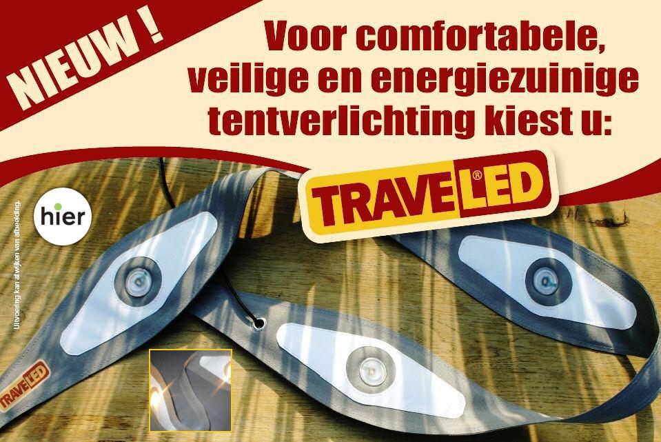 TRAVELED, voor comfortabele, veilige en energiezuinige tentverlichting!